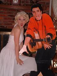 marilyn and elvis lookalikes