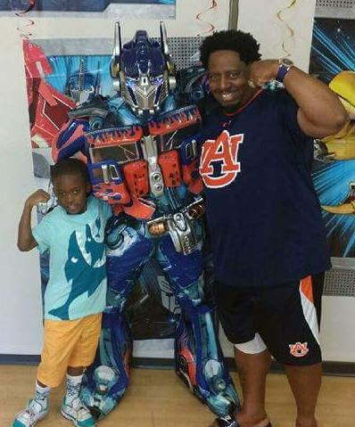 Optimus Prime transformers kids party costume glowing eyes