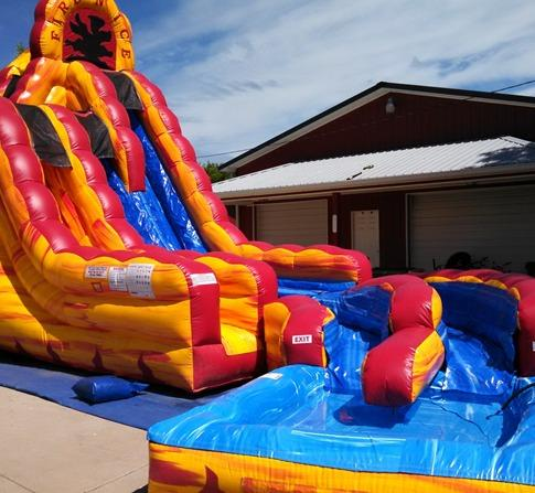 Fire and Ice waterslide for nashville kids parties