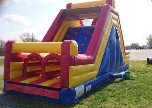 Inflatable bounce house rock climb slide for kids birthday party nashville tennessee