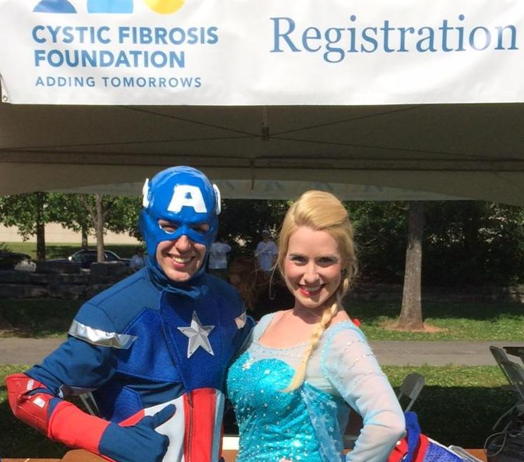 we have capt america and elsa from frozen!